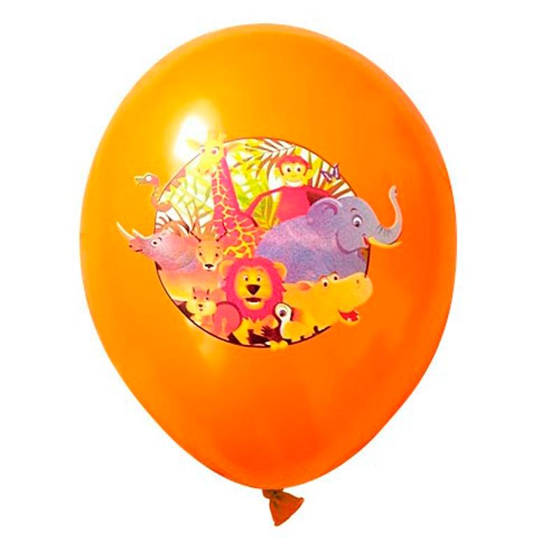 """Billede af 6 stk Jungle dyr ballon 12"""""""