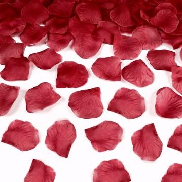 Rosenblade 500 stk mørkerøde silke