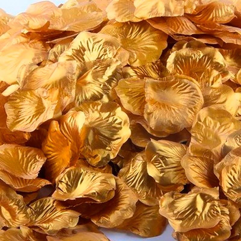 Rosenblade 500 stk metallic guld silke
