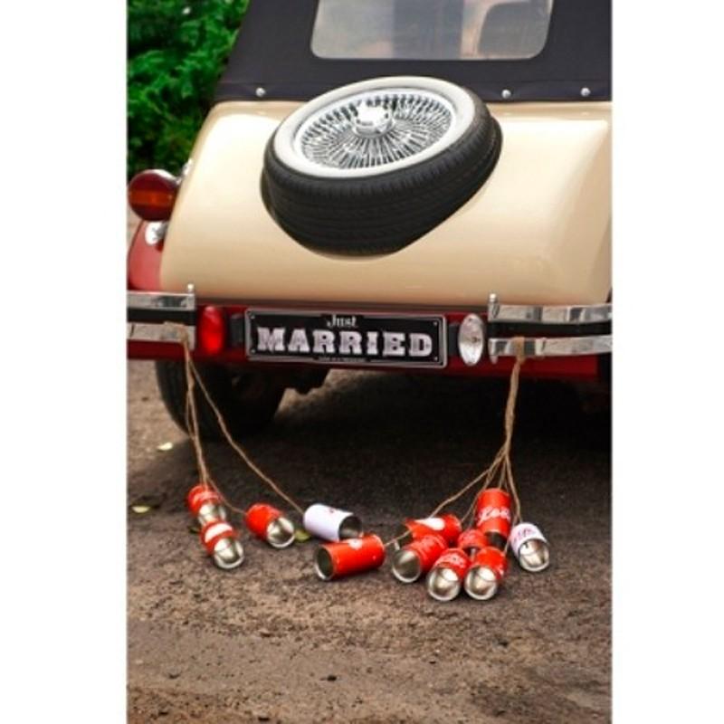 5 Stk  Bryllups dåser til bilen. - Retro