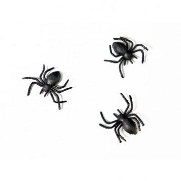 Store Edderkopper til Halloween - bordpynt