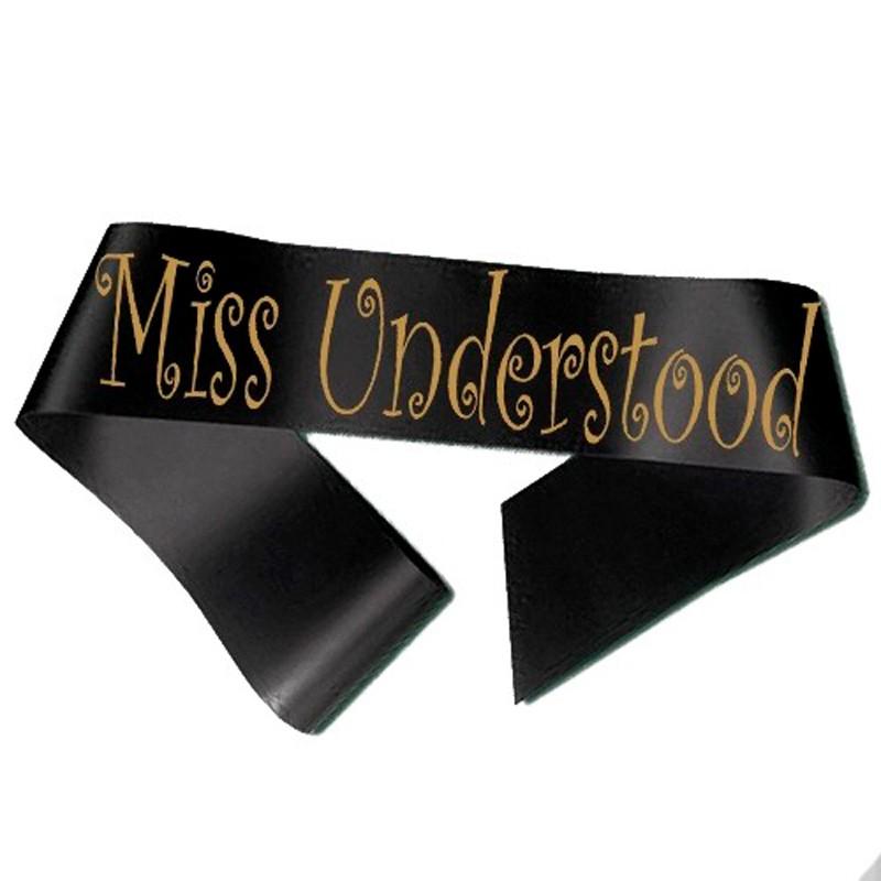 Billede af Miss Understood Ordensbånd Sort