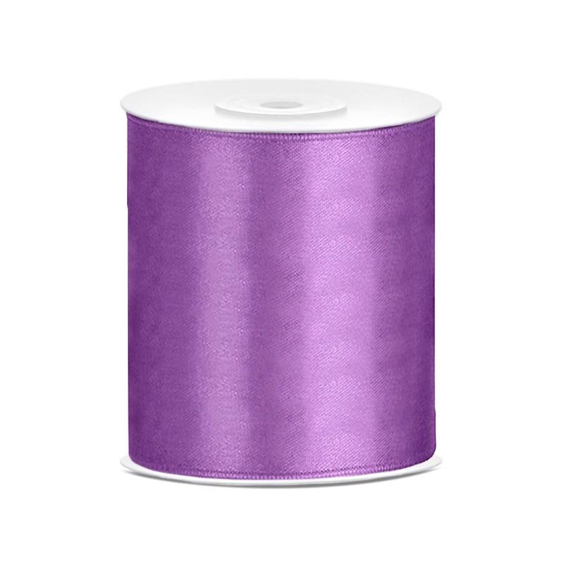 Billede af Satinbånd 100mm x 25m Lavendel - Glat silkelook