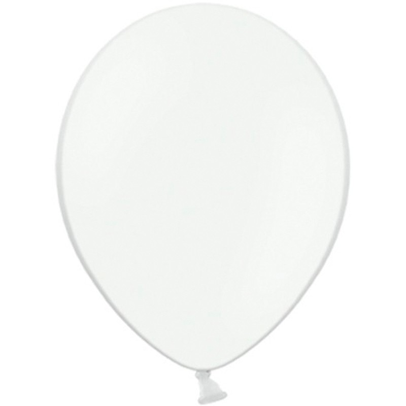 "100 stk Standard hvid balloner - str 10"""