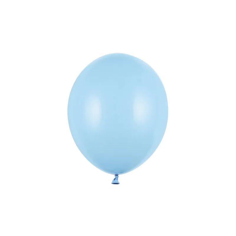 """100 stk Standard lyseblå balloner - str 10"""""""
