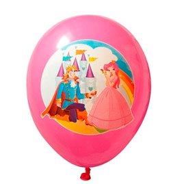 6 stk  Prins og Prinsesse latex ballon