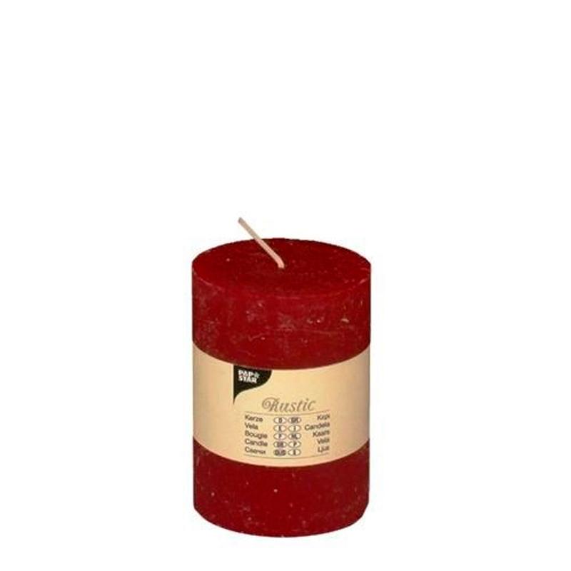 """Bordeaux """"Rustik"""" Lys  7 cm x 10 cm - 48 timer"""