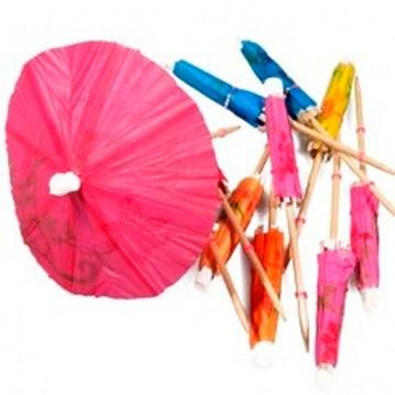 144 stk Drinks Paraplyer i ass. farver