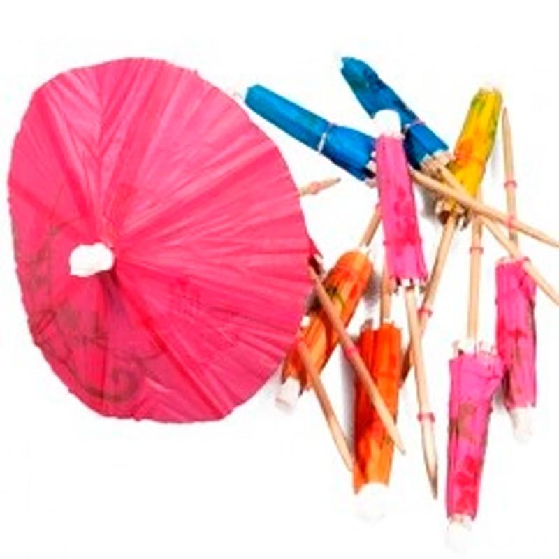 Billede af 144 stk Drinks paraplyer mix farver