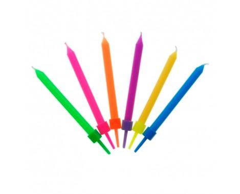 6 stk. forskellige farver fødselsdagslys