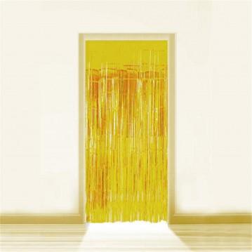 Guld Lametta - Dørforhæng - 0,9 x 2,5 meter