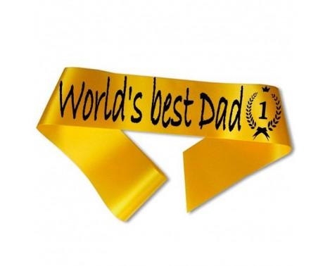 World´s best Dad Ordensbånd Guld