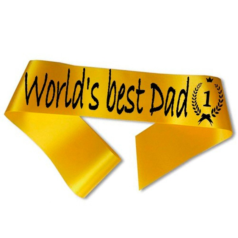 Billede af World´s best Dad Ordensbånd Guld