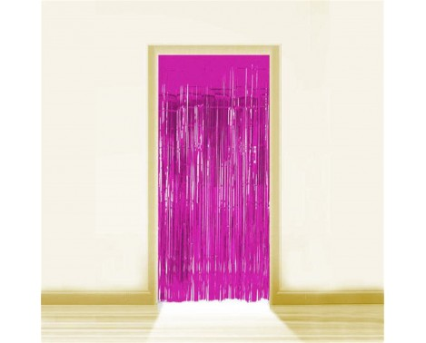 Pink Lametta - Dørforhæng - 0,9 x 2,5 meter