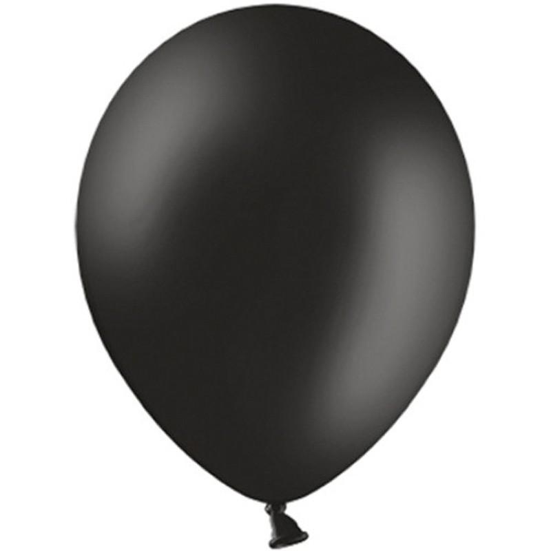 """Billede af 20 stk Standard sort balloner - str 12"""""""