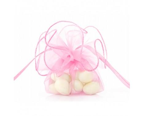 20 stk Organzaposer luksus lyserød