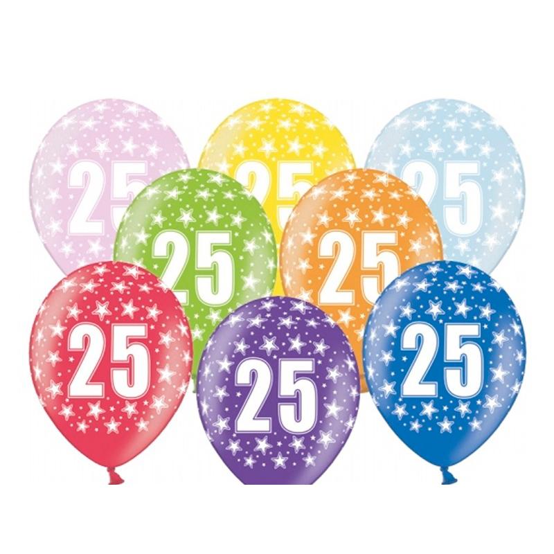 25 års dag Balloner | 25 års fødselsdag latex ballon flere farver | 12
