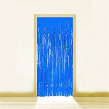 Blå Lametta - Dørforhæng - 0,9 x 2,5 meter