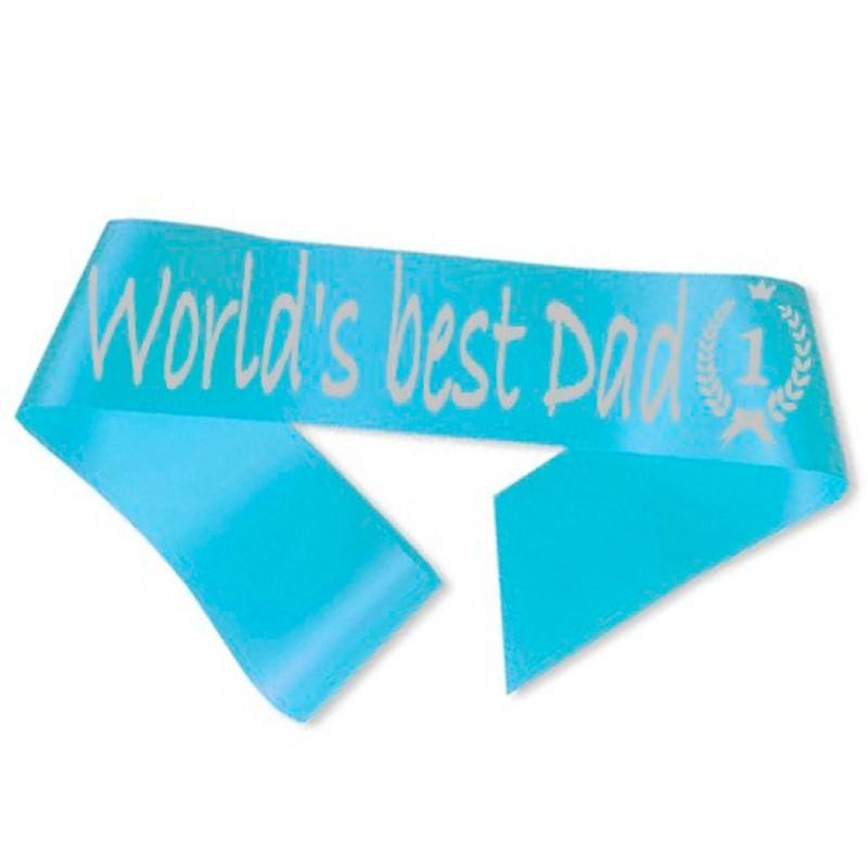 World´s best Dad Ordensbånd Lyseblå