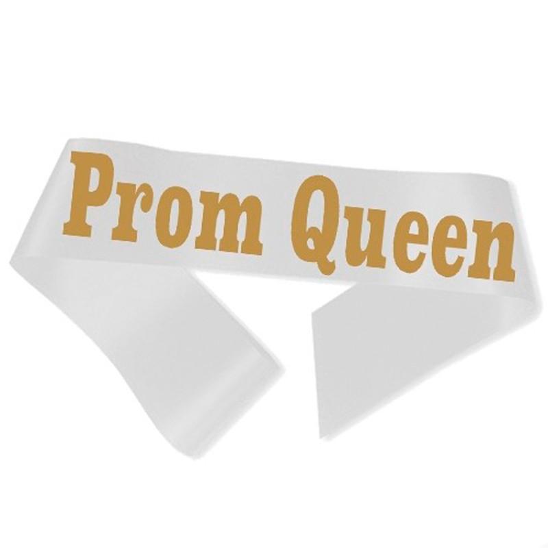Prom Queen Ordensbånd Hvid