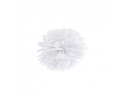 Pom Pom Hvid 25 cm