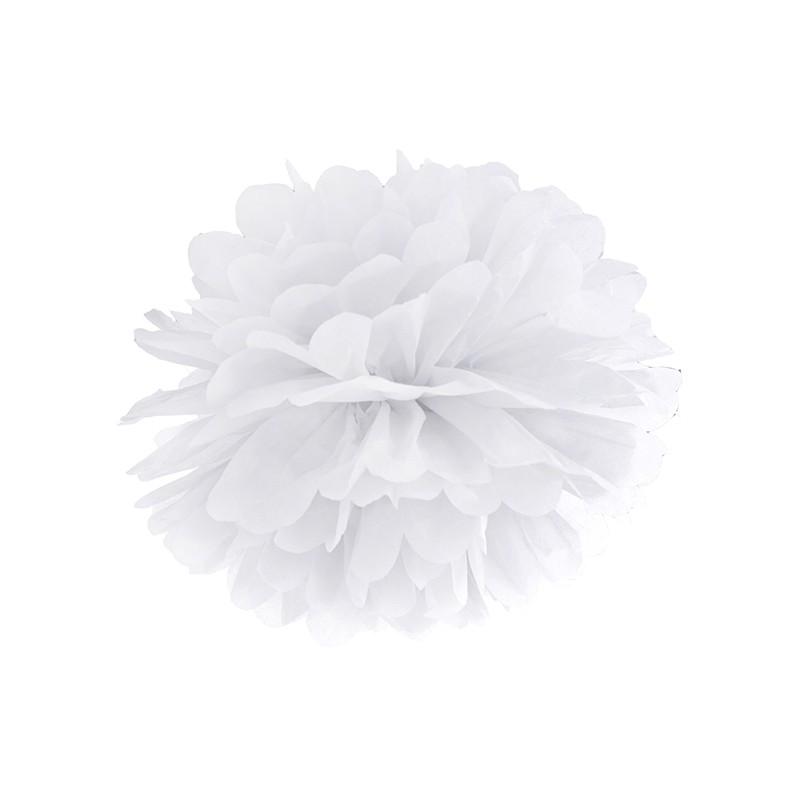 Billede af Pom Pom Hvid 35 cm.