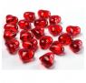 Røde Hjerte Diamanter, 30 stk. a 21 mm.