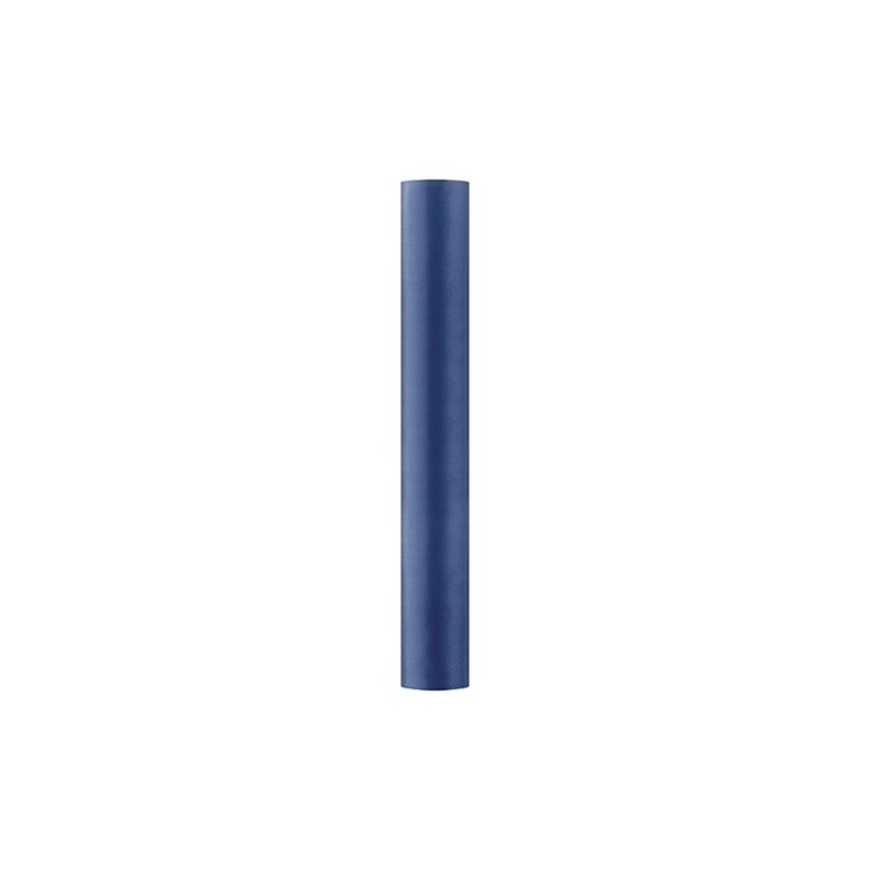 Satin stof i Mørkeblå - 0,36 x 9 meter