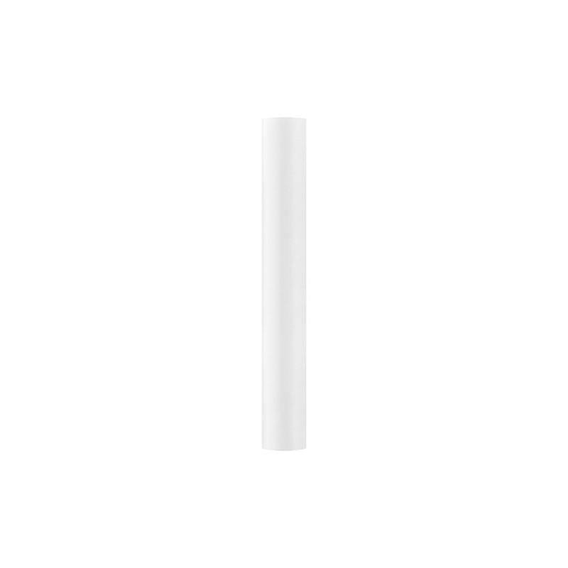 Satin stof i Hvid - 0,36 x 9 meter