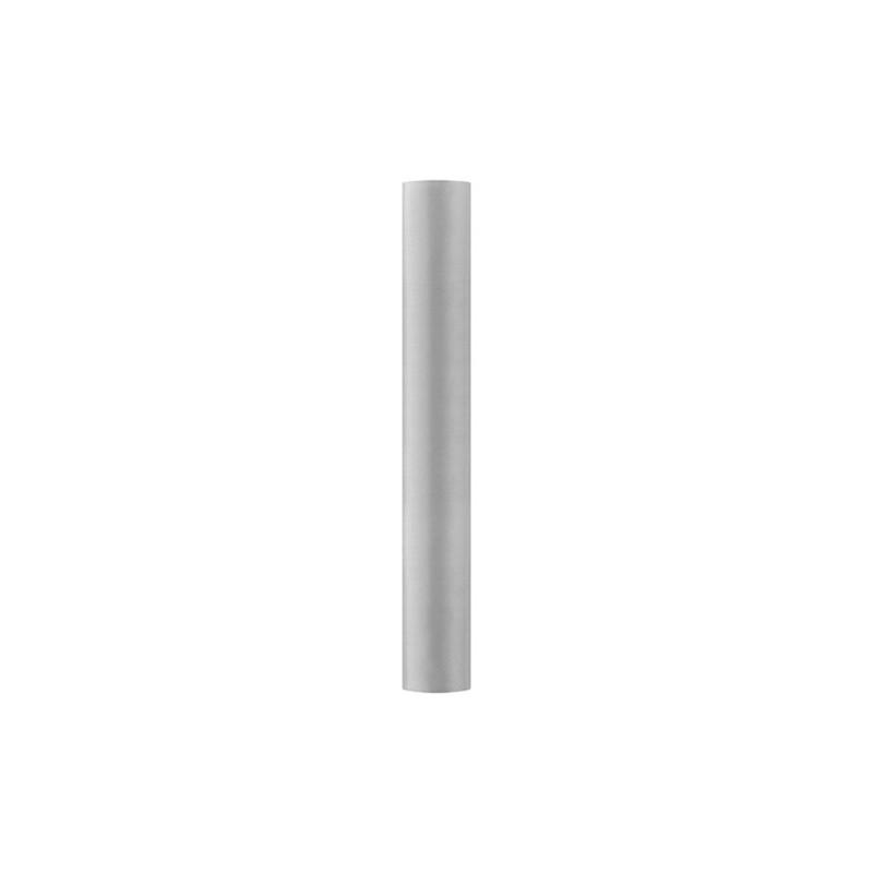 Satin stof i Sølv - 0,36 x 9 meter