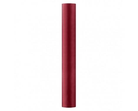 Satin stof i Bordeaux - 0,36 x 9 meter