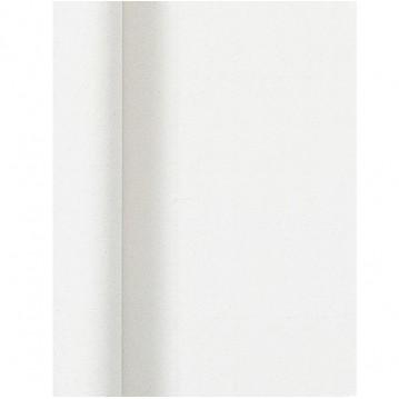 Hvid  Damask papirdug 1 x 10 m