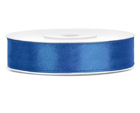 Satinbånd 12mm x 25m Royal Blå - Glat silkelook
