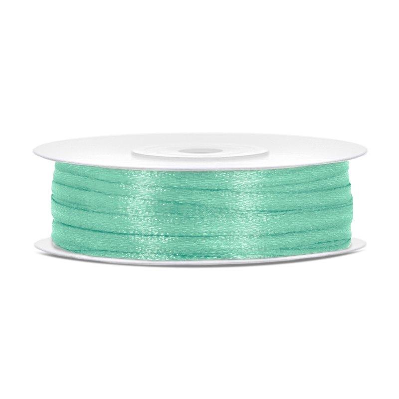 Billede af Satinbånd 3mm x 50m Mintgrøn - Glat silkelook