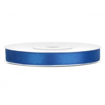 Satinbånd 6mm x 25m Royal blå - Glat silkelook