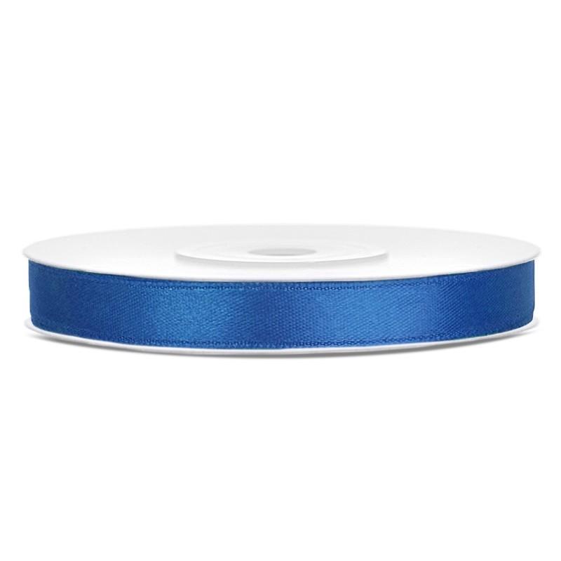 Billede af Satinbånd 6mm x 25m Royal blå - Glat silkelook
