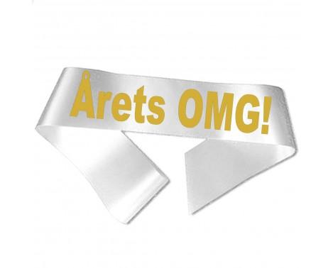 Årets OMG! guld metallic tryk - Ordensbånd