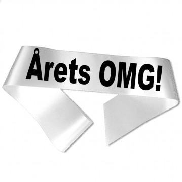 Årets OMG! sort tryk - Ordensbånd