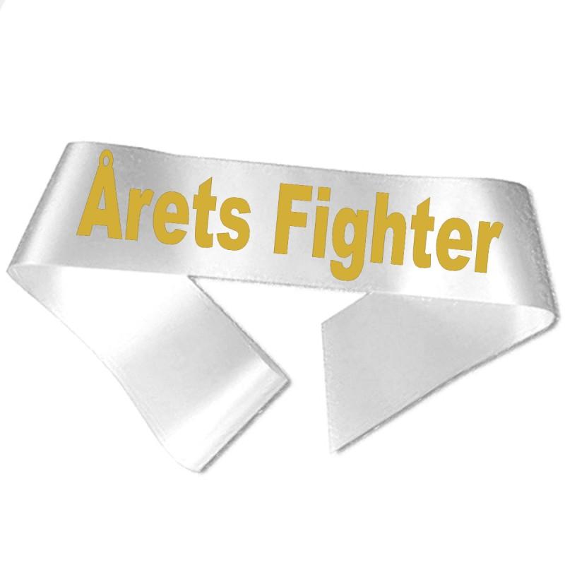 Image of   Årets Fighter guld metallic tryk - Ordensbånd