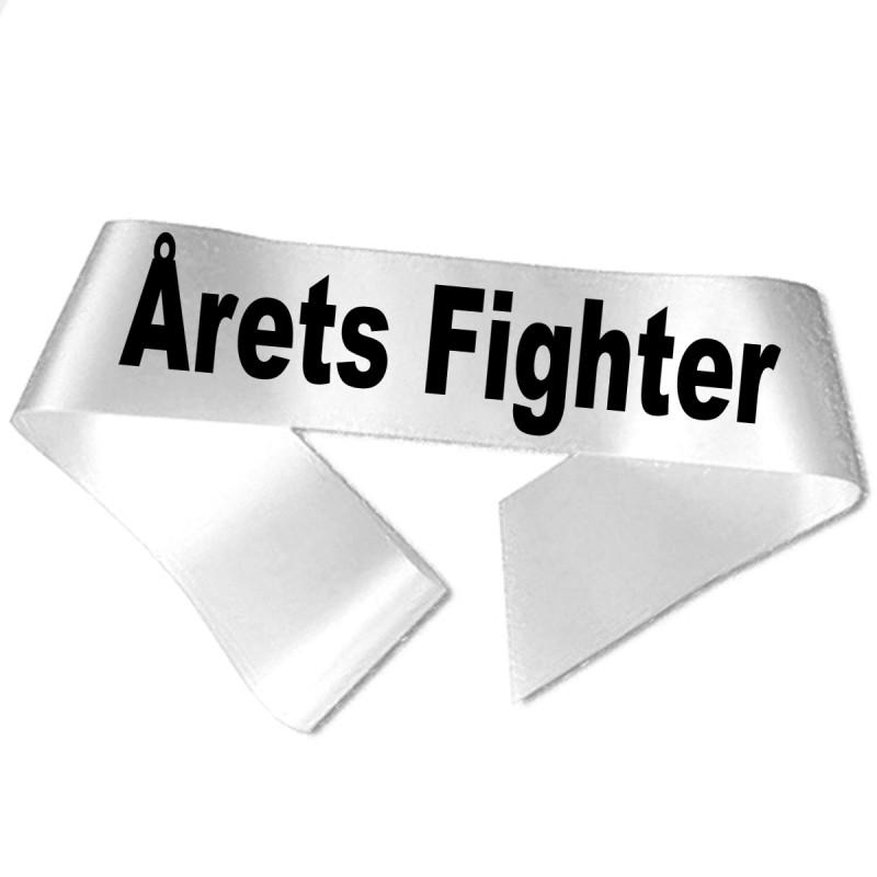 Image of   Årets Fighter sort tryk - Ordensbånd