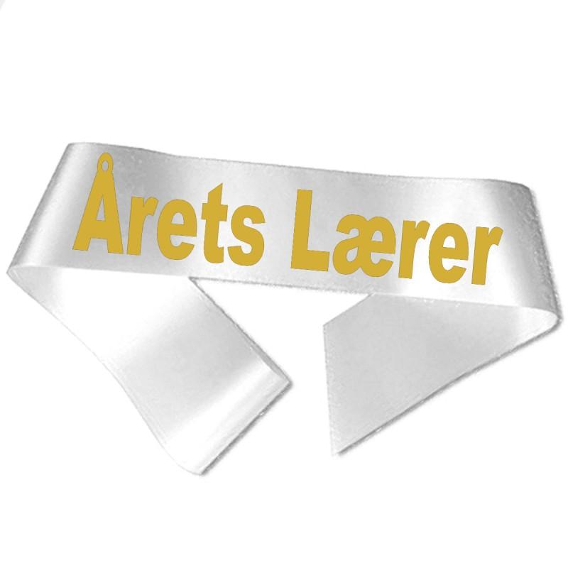 Årets Lærer guld metallic tryk- Ordensbånd