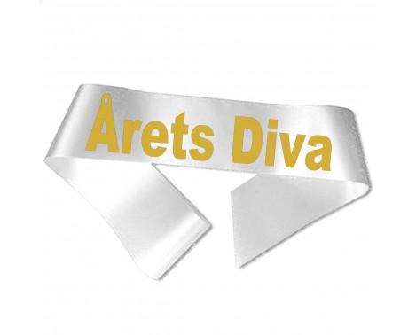 Årets Diva guld metallic tryk - Ordensbånd