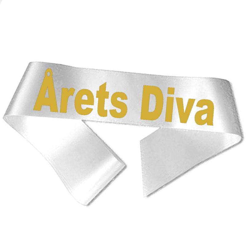 Image of   Årets Diva guld metallic tryk - Ordensbånd