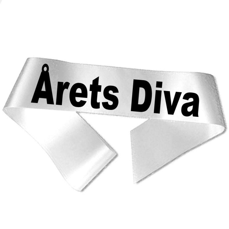 Image of   Årets Diva sort tryk - Ordensbånd