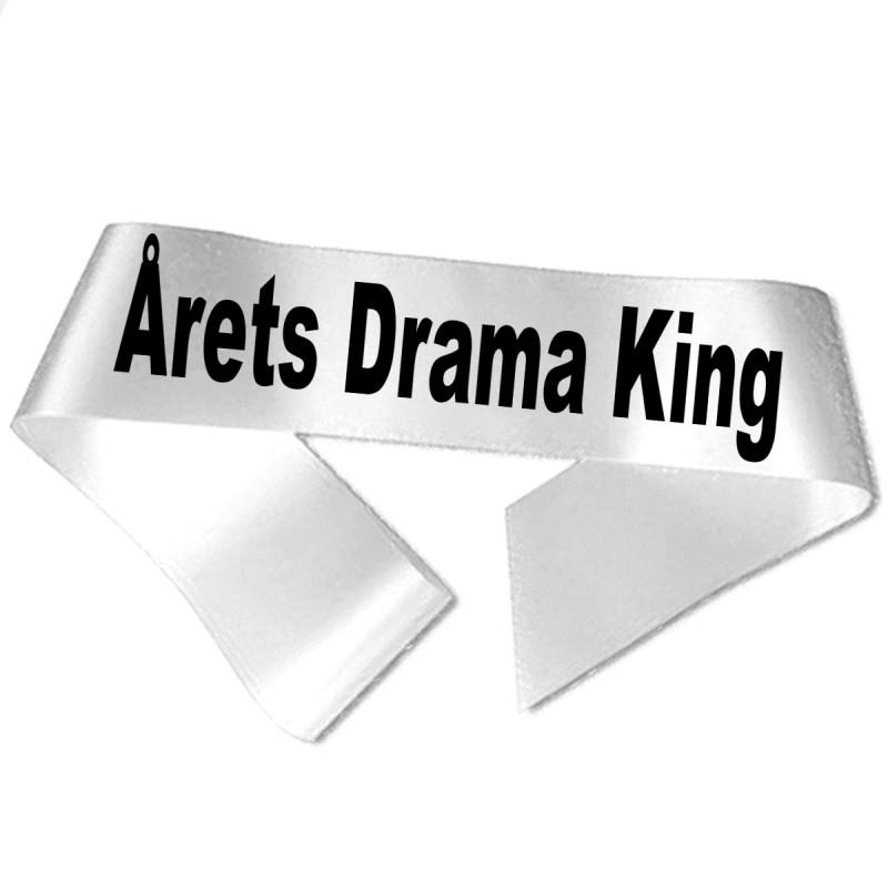 Image of   Årets Drama King sort tryk - Ordensbånd