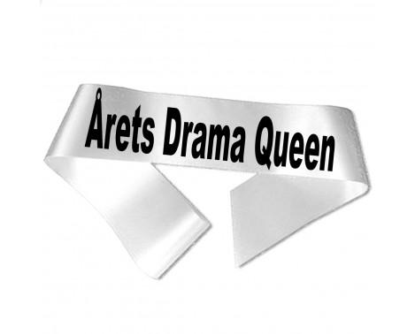Årets Drama Queen sort tryk - Ordensbånd