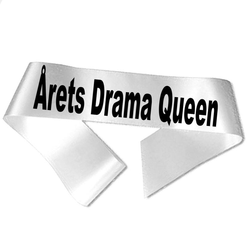 Image of   Årets Drama Queen sort tryk - Ordensbånd