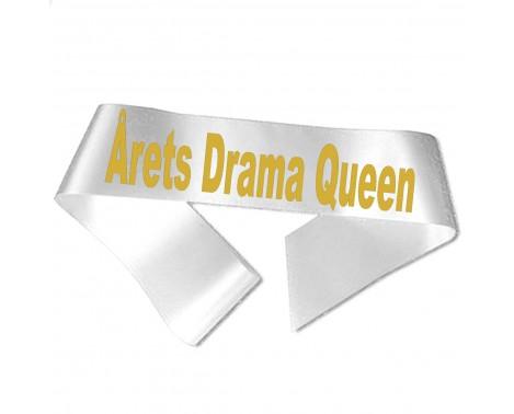 Årets Drama Queen guld metallic tryk - Ordensbånd