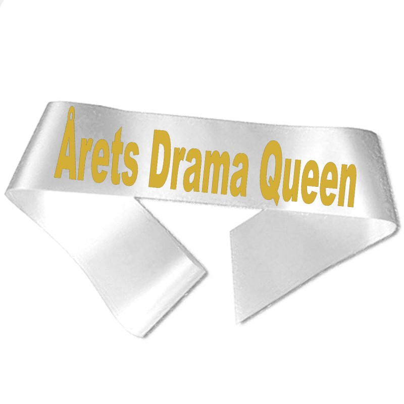 Image of   Årets Drama Queen guld metallic tryk - Ordensbånd