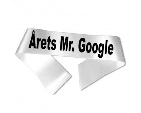 Årets Mr Google sort tryk - Ordensbånd